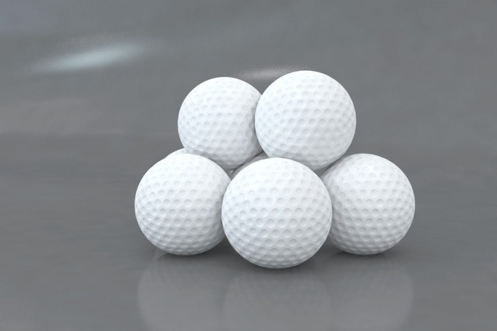 a picture that describe some of the best golf balls for beginners