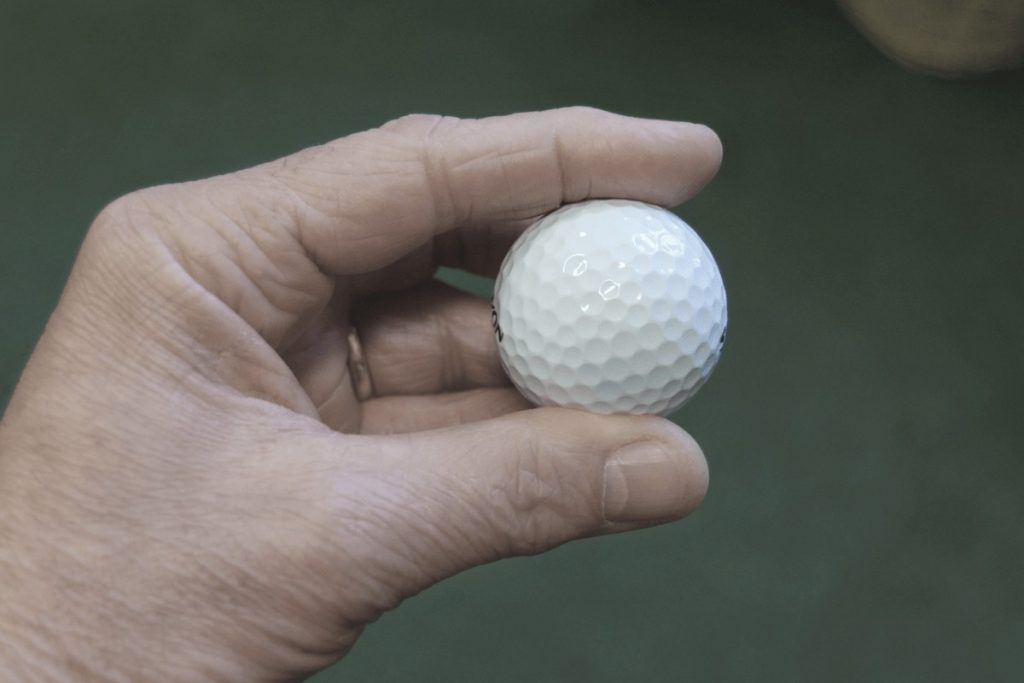 a senior golfer who's carrying the best golf balls for seniors
