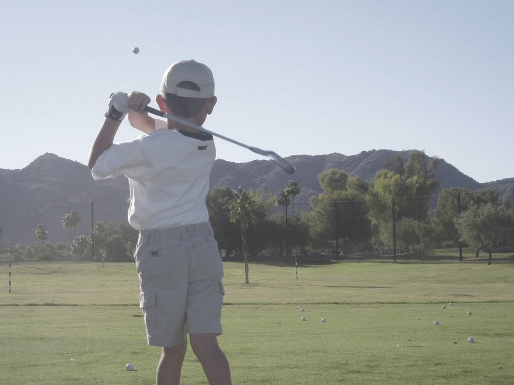 a kids golfer who shot the golf ball longer to describe the longest golf balls
